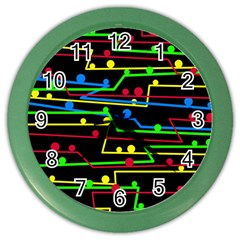 Stay in line Color Wall Clocks