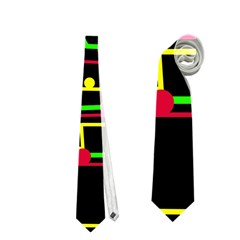 Stay in line Neckties (Two Side)