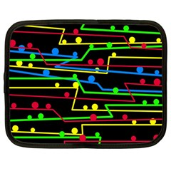 Stay in line Netbook Case (Large)