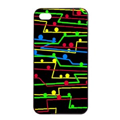 Stay in line Apple iPhone 4/4s Seamless Case (Black)