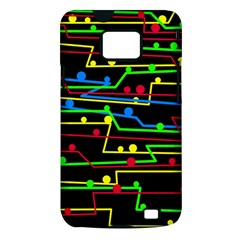 Stay in line Samsung Galaxy S II i9100 Hardshell Case (PC+Silicone)