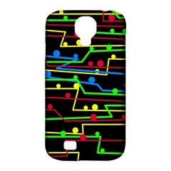 Stay in line Samsung Galaxy S4 Classic Hardshell Case (PC+Silicone)