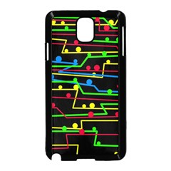 Stay in line Samsung Galaxy Note 3 Neo Hardshell Case (Black)