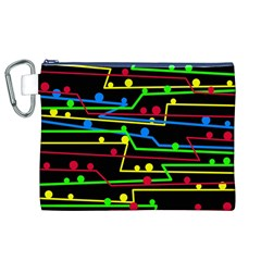 Stay in line Canvas Cosmetic Bag (XL)
