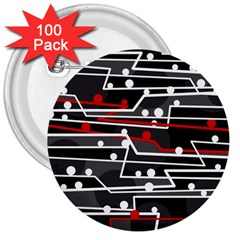 Stay in line 3  Buttons (100 pack)