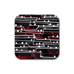 Stay in line Rubber Coaster (Square)