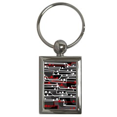 Stay in line Key Chains (Rectangle)