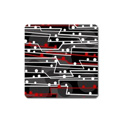 Stay in line Square Magnet