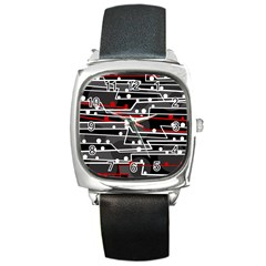 Stay in line Square Metal Watch