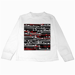 Stay in line Kids Long Sleeve T-Shirts