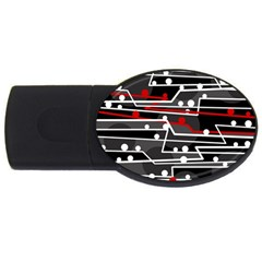 Stay in line USB Flash Drive Oval (4 GB)