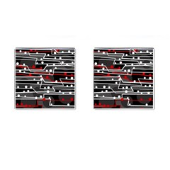 Stay in line Cufflinks (Square)