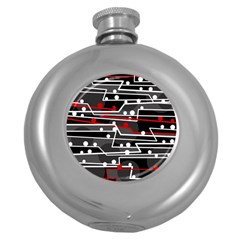 Stay in line Round Hip Flask (5 oz)