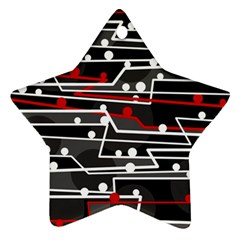 Stay in line Star Ornament (Two Sides)