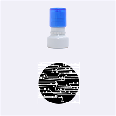 Stay in line Rubber Round Stamps (Small)