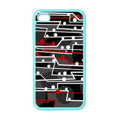 Stay in line Apple iPhone 4 Case (Color)
