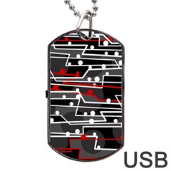 Stay in line Dog Tag USB Flash (One Side)