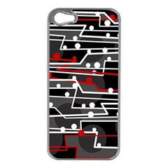 Stay in line Apple iPhone 5 Case (Silver)