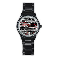 Stay in line Stainless Steel Round Watch