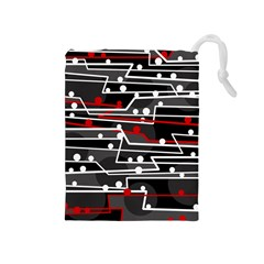 Stay in line Drawstring Pouches (Medium)