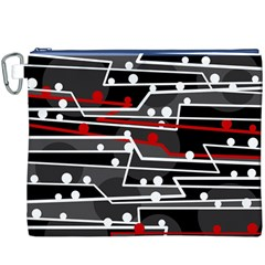 Stay in line Canvas Cosmetic Bag (XXXL)