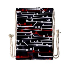 Stay in line Drawstring Bag (Small)