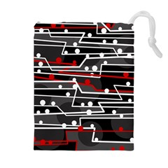 Stay in line Drawstring Pouches (Extra Large)