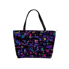 Purple galaxy Shoulder Handbags