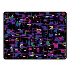 Purple galaxy Fleece Blanket (Small)