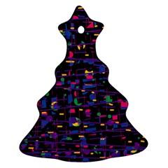 Purple galaxy Christmas Tree Ornament (2 Sides)
