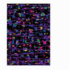 Purple galaxy Large Garden Flag (Two Sides)