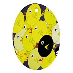 Yellow flock Ornament (Oval)