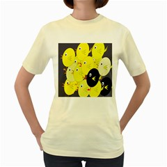Yellow flock Women s Yellow T-Shirt
