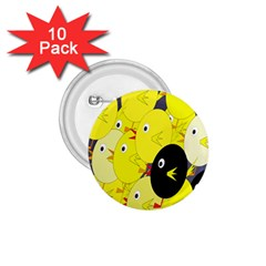 Yellow flock 1.75  Buttons (10 pack)