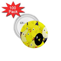 Yellow flock 1.75  Buttons (100 pack)