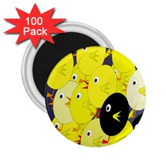 Yellow flock 2.25  Magnets (100 pack)