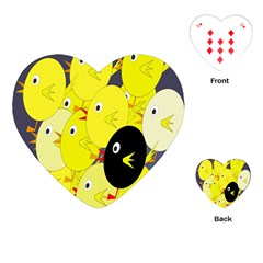 Yellow flock Playing Cards (Heart)