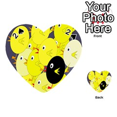 Yellow flock Playing Cards 54 (Heart)