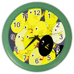 Yellow flock Color Wall Clocks