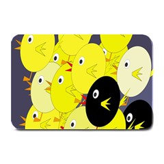 Yellow flock Plate Mats