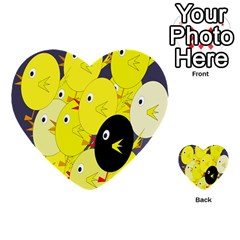 Yellow flock Multi-purpose Cards (Heart)