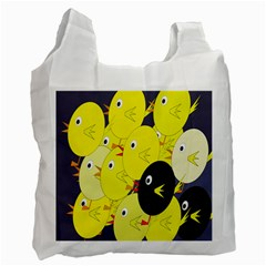 Yellow flock Recycle Bag (Two Side)