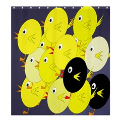 Yellow flock Shower Curtain 66  x 72  (Large)