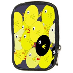 Yellow flock Compact Camera Cases