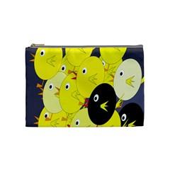 Yellow flock Cosmetic Bag (Medium)