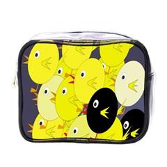 Yellow flock Mini Toiletries Bags