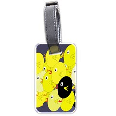 Yellow flock Luggage Tags (One Side)