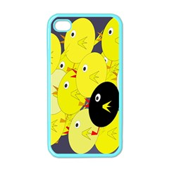 Yellow flock Apple iPhone 4 Case (Color)