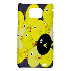 Yellow flock Samsung Galaxy S2 i9100 Hardshell Case