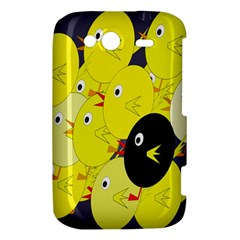Yellow flock HTC Wildfire S A510e Hardshell Case